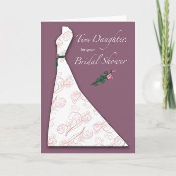 daughter, bridal shower dress silhouette plum invitation