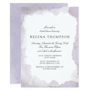 debonair lavender bridal shower invitation