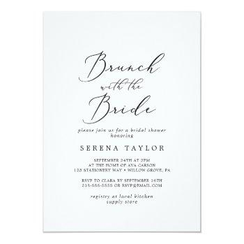 delicate black brunch with the bride bridal shower invitation