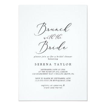 delicate black brunch with the bride bridal shower invitation