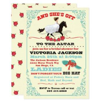 derby bridal shower and she's off! invitation