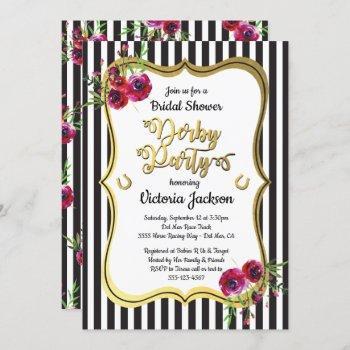 derby themed bridal shower invitations