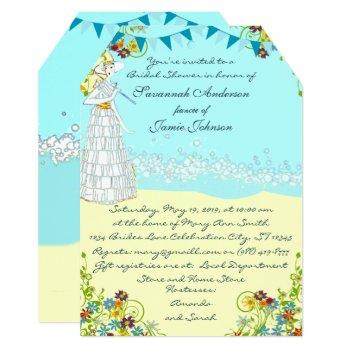 destination wedding bridal shower invitations