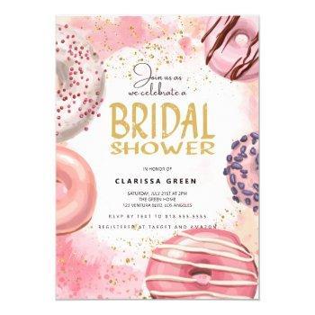 donut bridal shower party invitation