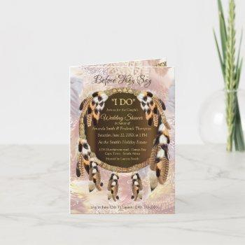 dream catcher couple shower invitation