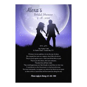 dream honeymoon bridal shower request invitation