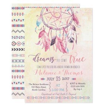 dreamcatcher boho bridal shower invitation tribal