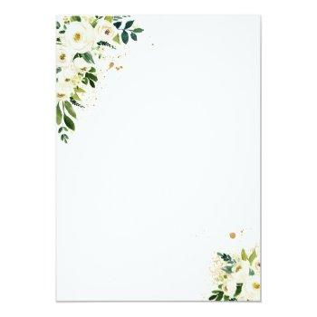 Drive By Bridal Shower Invitation White Floral Front View