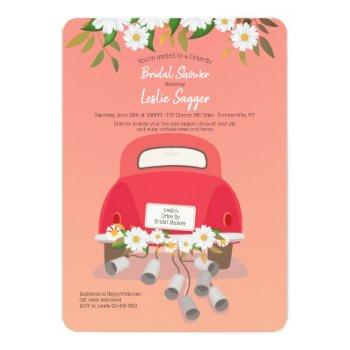 drive by bridal shower invitations
