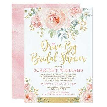 drive by bridal shower quarantine wedding parade invitation