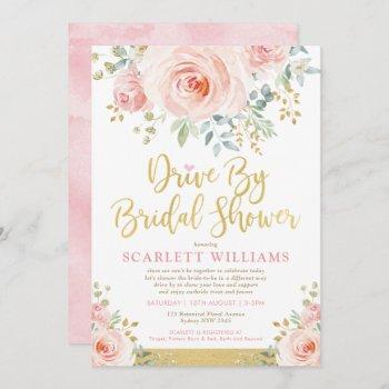 drive by bridal shower quarantine wedding parade invitation