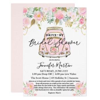 drive by bridal shower virtual bridal shower invitation