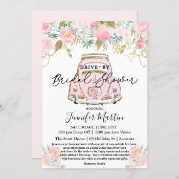 drive by bridal shower virtual bridal shower invitation