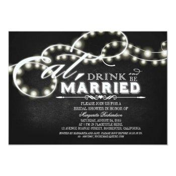 eat, drink and be married bridal shower invitation