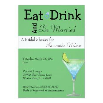 eat drink & be married bridal shower invitation