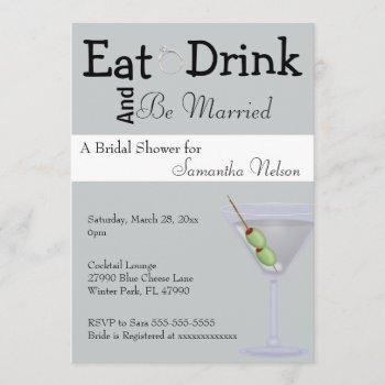 eat drink & be married bridal shower invitation