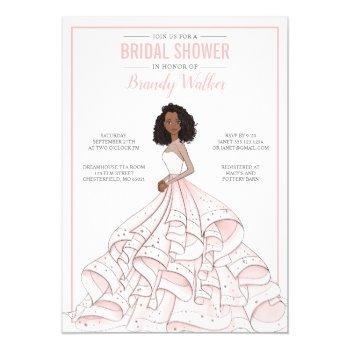 editable glam bride bridal shower invitation
