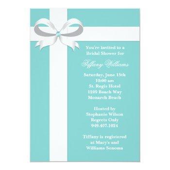 elegant blue bridal shower invitation