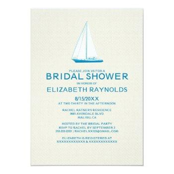 elegant boat bridal shower invitations