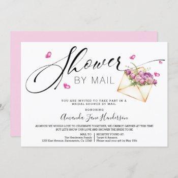 elegant bridal shower by mail invitation