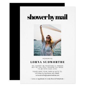 elegant & chic bridal shower by mail photo invitation