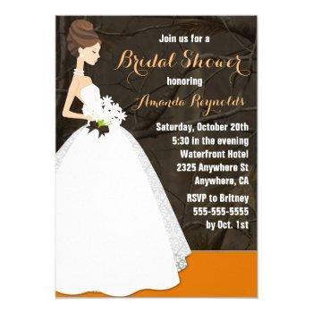elegant hunting camo bridal shower invitations