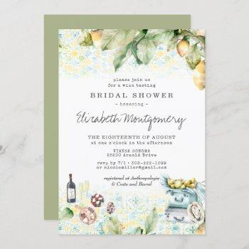 elegant lemon grove picnic bridal shower invitation