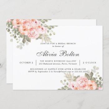 elegant modern stylish roses bridal brunch invitation
