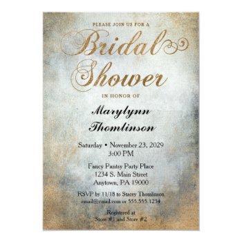 elegant painted copper bridal shower invitation