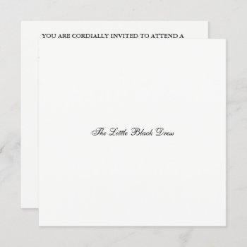 elegant the little black dress bridal shower party invitation