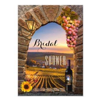 elegant vineyard wine bridal shower invitation
