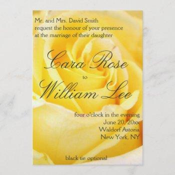 elegant yellow rose wedding invitations