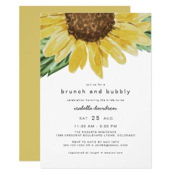 emma - rustic sunflower bridal brunch + bubbly invitation