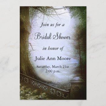 enchanted forest scene bridal shower invitation