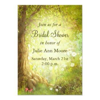 enchanted forest scene invitation