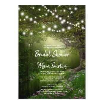 enchanted string lights bridal shower invitation