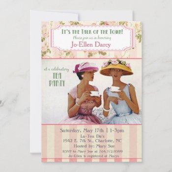 ethnic african american retro tea party invitation