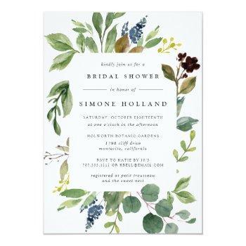 Eucalyptus Grove Bridal Shower Invitation Front View