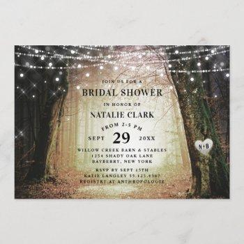 evermore | enchanted forest amber bridal shower invitation