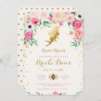 fairy bridal shower invitation