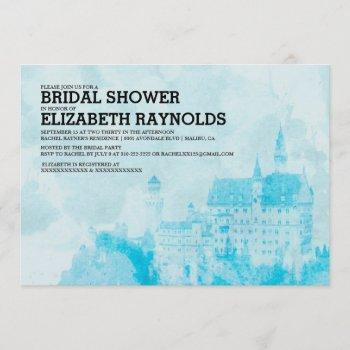 fairytale castle bridal shower invitations