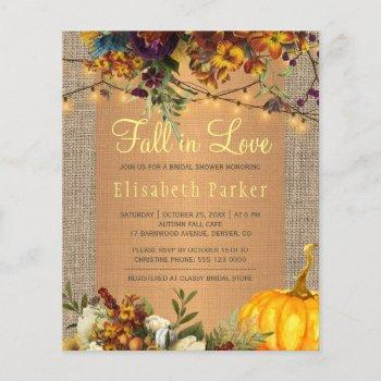 fall in love autumn floral budget bridal shower