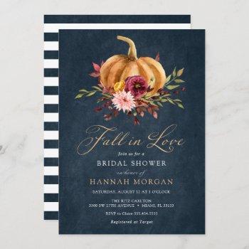 fall in love bridal shower invitation
