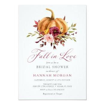 Fall In Love Bridal Shower Invitation Front View