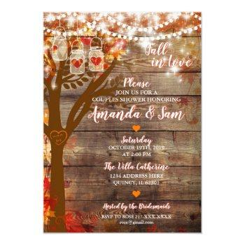 fall in love rustic bridal shower invitation