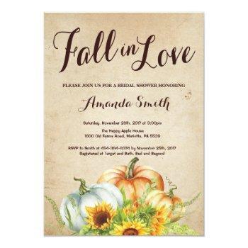 fall pumpkin bridal shower invitation