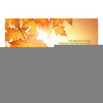 fall wedding shower invitations with orange leaves