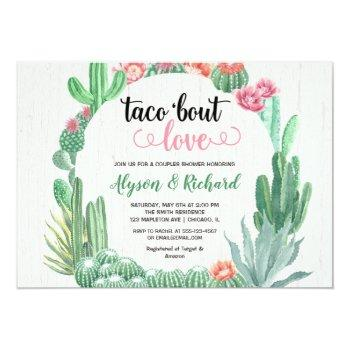 fiesta bridal couples shower, taco bout love invitation