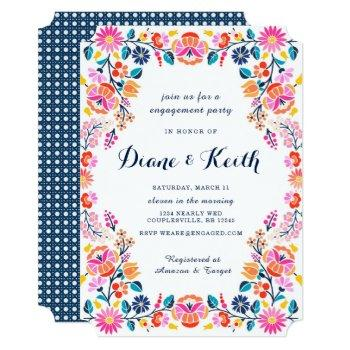 fiesta bridal engagement  invitation