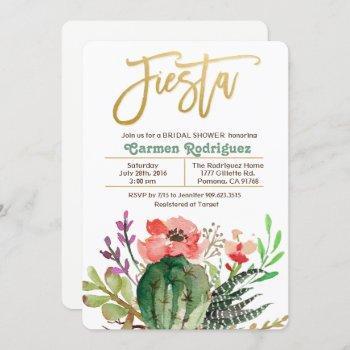 fiesta bridal shower cactus invitation
